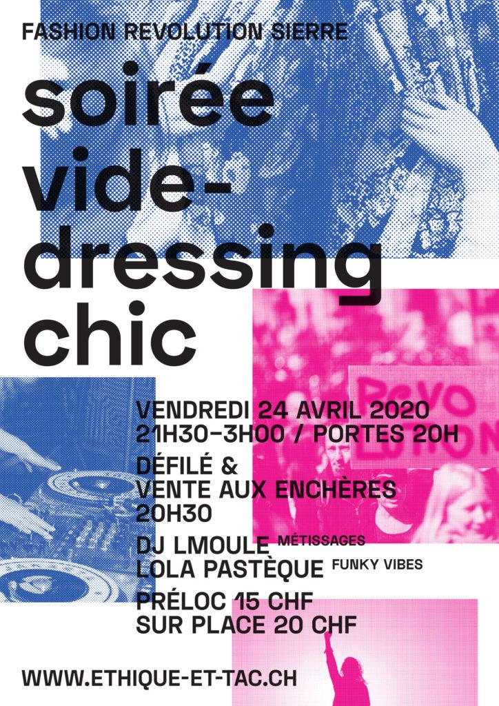 Affiche vide-dressing chic
