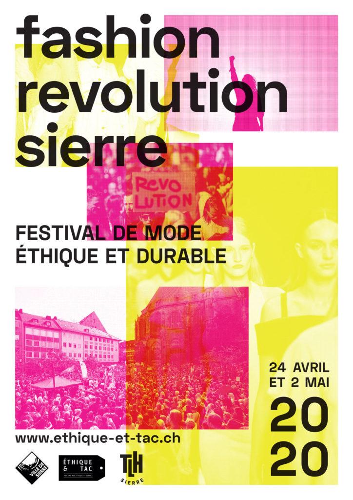Affiche du Fashion Revolution Sierre 2020